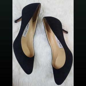 Jimmy Choo Pointed Toe Black Suede Pumps Size 35.5